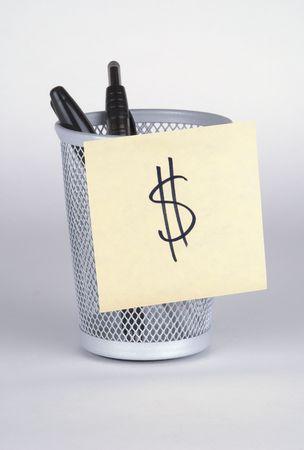 Money! Post-It Note Banco de Imagens