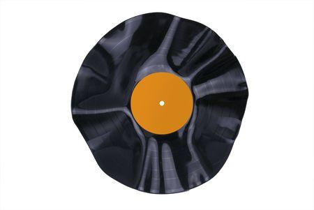 Warped Vinyl Record Banco de Imagens