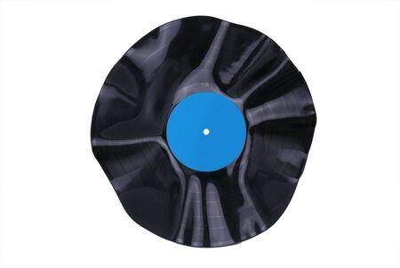 warped: Warped Vinyl Record Stock Photo