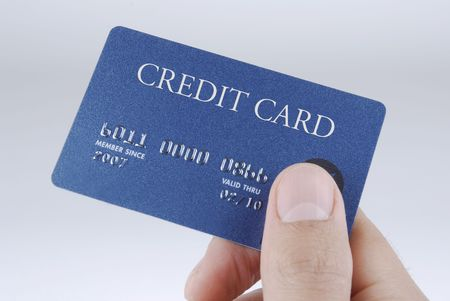 Hand me the Card Banco de Imagens