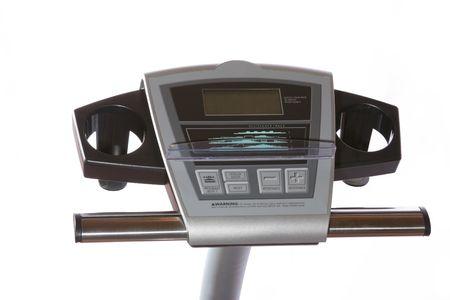 handle bars: Asa bares y panel de visualizaci�n de una bicicleta estacionaria.