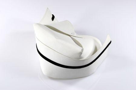 enfermera con cofia: Enfermera  's con sombrero negro sola banda.