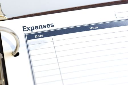 dayplanner: Blank expense sheet from a dayplanner.