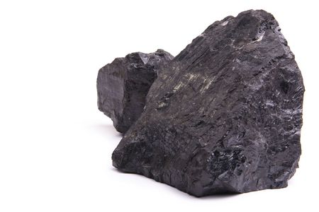 resouce: Chunks of coal isolated on a white background.
