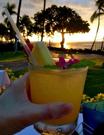 Drink at sunset, Kona Hawaii