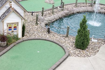 Vista aérea de un campo de golf en miniatura Foto de archivo - 30888967