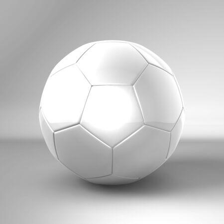 fussball weiss Stock Photo