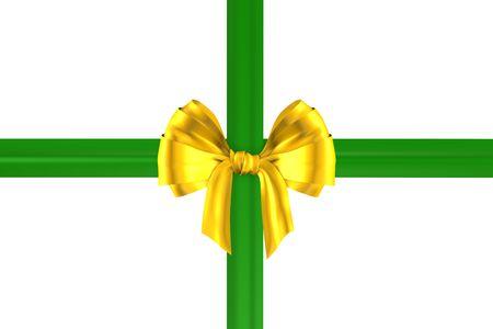 geschenkschleife gold-grün Stock Photo - 2427321