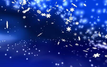 weihnachtshintergrund blau-weiss Stock Photo - 2427428