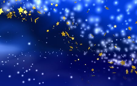 weihnachtshintergrund-blau-gold Stock Photo - 2432327