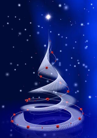 weihnachtsbaum-blau Stock Photo - 2427518