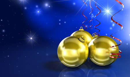 Weihnachtskugel-gold Stock Photo - 2427521