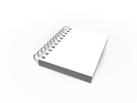 blank book page isolated on white background Stock Photo - 2808417