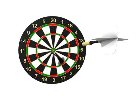 darts flying: to strive for a goal