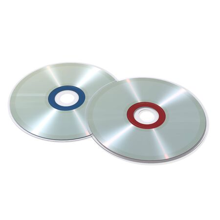compact disc: Compact disc - blend and gradient on white background