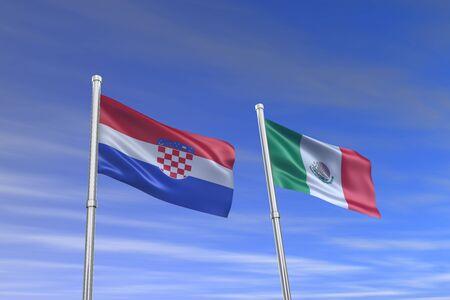 bandiera croazia: croazia croazia bandiera e nel vento