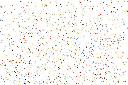 Colorful confetti frame on white background photo