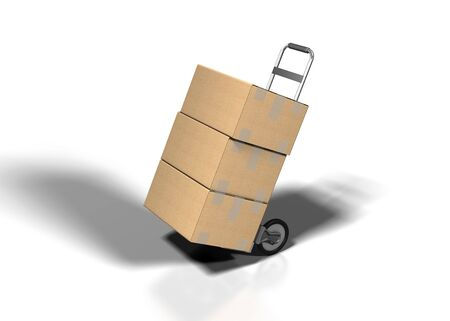 shipping box on white bacground photo