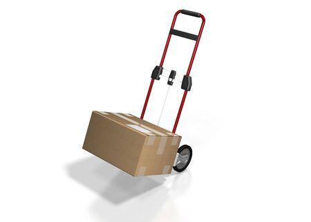 transport box on white background  photo