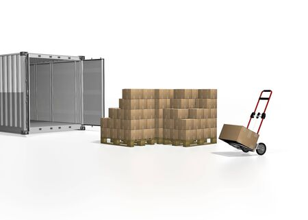 transport box on white background