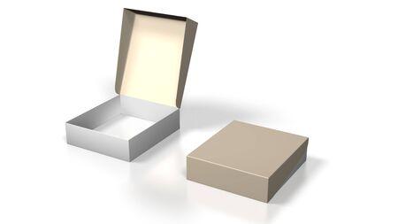 blank box on white background photo