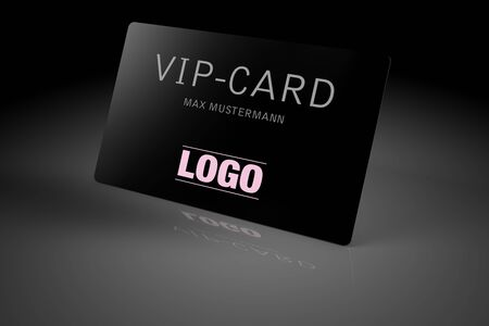 VIP card isolated over black background photo