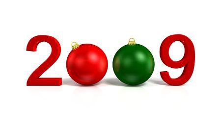 konzept: Happy new year on white background______Neujahr Stock Photo
