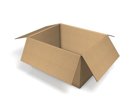 brown pack carton Stock Photo - 3809256