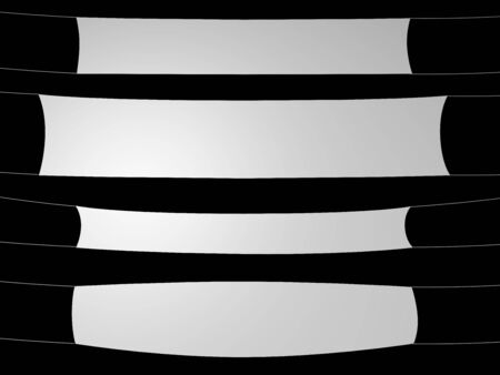 white banner on black background Stock Photo - 3998397