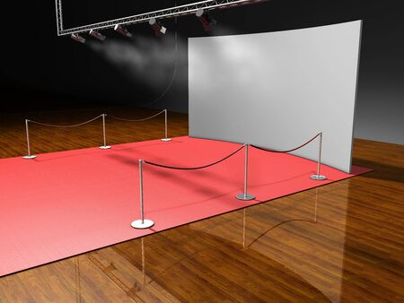 red stage lighting on black background Stock Photo - 3998406