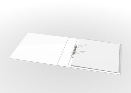 disorganization: white folder on white background