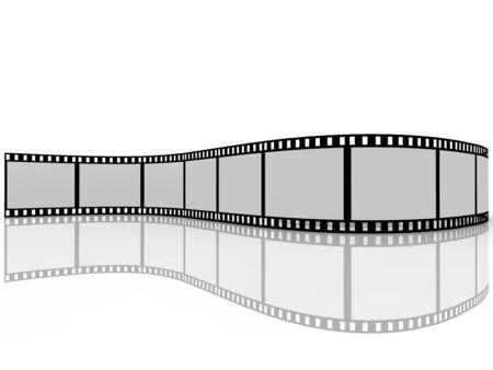 rollo fotogr�fico: Pel�cula sobre fondo blanco