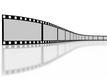 Filmstrip on white background
