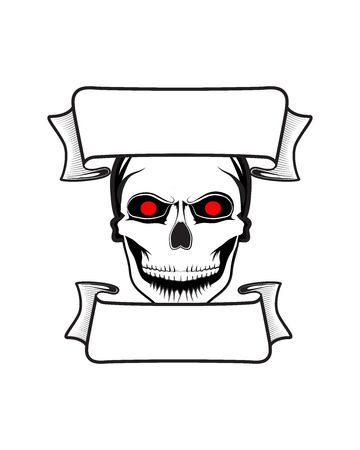 Fearsome vector skull banner apocalyptic