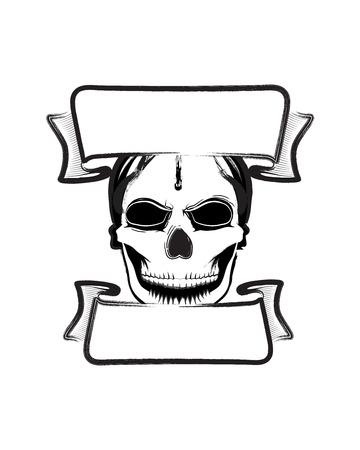 Fearsome vector skull banner 向量圖像