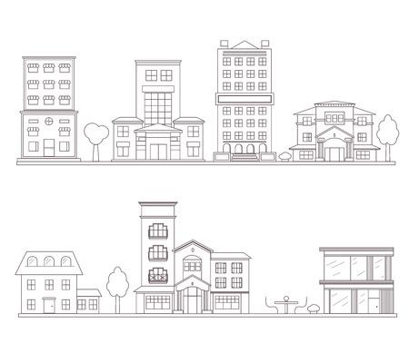 Linear vector building set