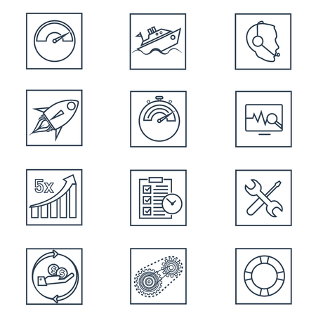 Linear it business icons