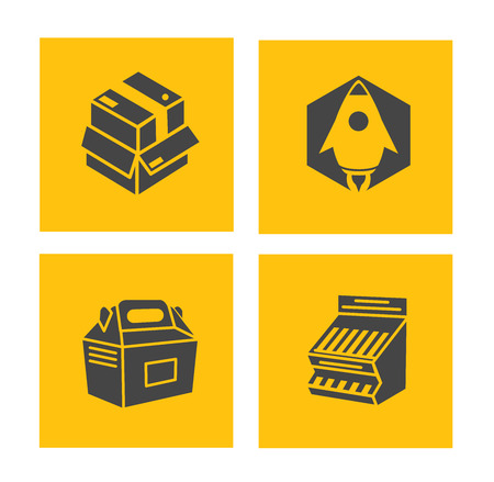 vector packaging icons