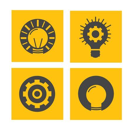flat vector  innovation icon set