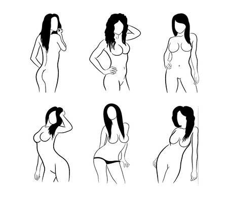 naked woman: Sexy Female Silhouttes