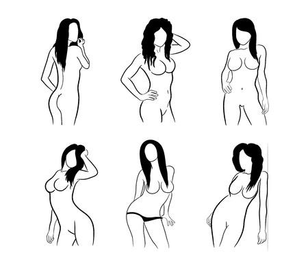 ragazza nuda: Silhouttes femminile sexy