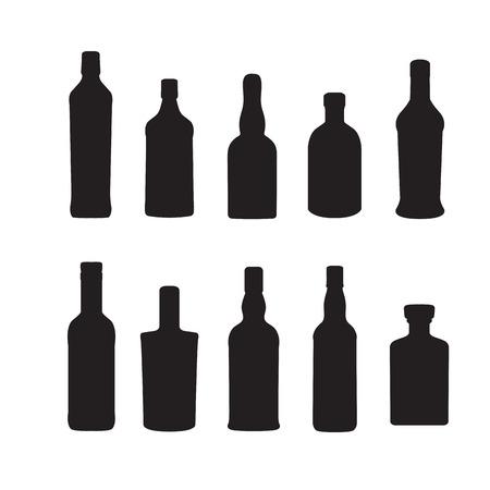 Silhoutte of drink bottles outline