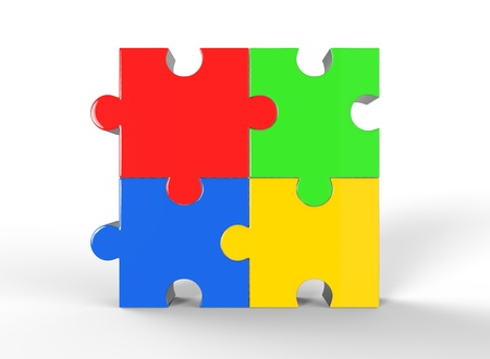 Colorful jigsaw puzzle Stock Photo