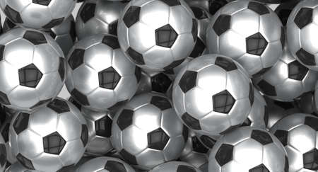 Group of soccer balls - European footballs