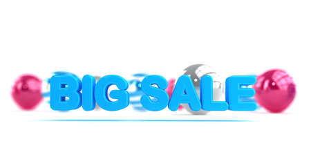 Sign to announce the big sale