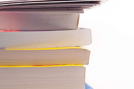 Stack of books for learning anything you want Stock Photo
