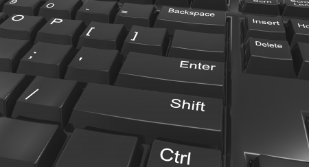 Keyboard focused on shift and enter Stock Photo