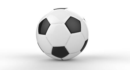 A single soccer ball on a white background Stock Photo