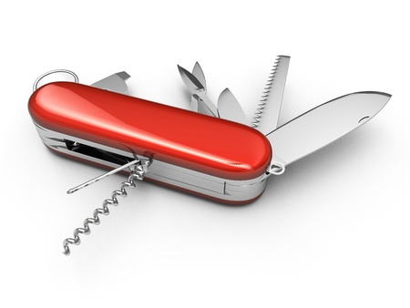 All Purpose Knife Swiss Knife red Metalic