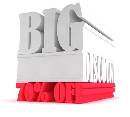 Big Savings 70  off sign Stock Photo - 17250774